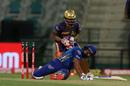 Rohit Sharma lost his balance while attempting a shot, Kolkata Knight Riders vs Mumbai Indians, IPL 2020, Abu Dhabi, October 16, 2020