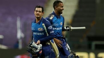 Quinton de Kock and Hardik Pandya helped Mumbai Indians secure a comfortable win