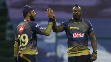 Varun Chakravarthy and Andre Russell are key to the Knight Riders' plans