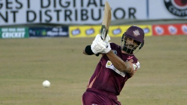 Shan Masood hits out during his knock of 78