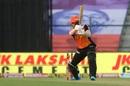 Abdul Samad cuts the ball square, Sunrisers Hyderabad vs Kolkata Knight Riders, IPL 2020, Abu Dhabi, October 18, 2020