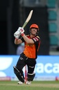 David Warner goes over the top, Sunrisers Hyderabad vs Kolkata Knight Riders, IPL 2020, Abu Dhabi, October 18, 2020