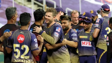 Lockie Ferguson was the centre of attention after his match-turning performance