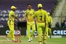 Deepak Chahar is congratulated for a breakthrough, Chennai Super Kings vs Rajasthan Royals, IPL 2020, Abu Dhabi, October 19, 2020