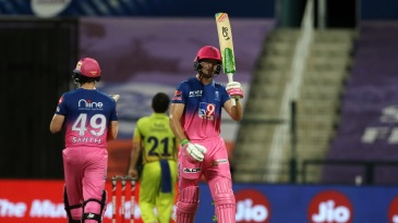 Jos Buttler celebrates a well-compiled fifty