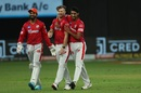 James Neesham is congratulated by his team-mates after dismissing Prithvi Shaw, Delhi Capitals vs Kings XI Punjab, IPL 2020, Dubai, October 20, 2020