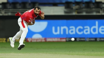 Mohammed Shami sends one down