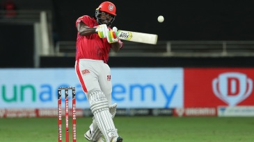 Chris Gayle thumps one away