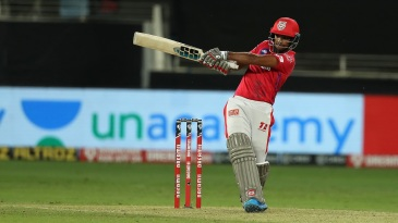 Nicholas Pooran muscles one away to the leg side