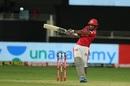 Nicholas Pooran muscles one away to the leg side, Delhi Capitals vs Kings XI Punjab, IPL 2020, Dubai, October 20, 2020