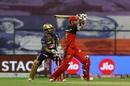 Gurkeerat Singh Mann pulls a short ball away, Kolkata Knight Riders vs Royal Challengers Bangalore, IPL 2020, Abu Dhabi, October 21, 2020
