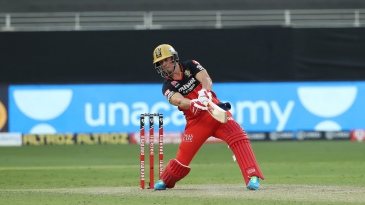 Batting first in Sharjah against the Kings XI Punjab, RCB held AB de Villiers back until there were only four overs remaining