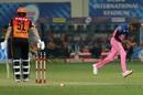 Jofra Archer wheels away in celebration after dismissing Jonny Bairstow, Rajasthan Royals vs Sunrisers Hyderabad, IPL 2020, Dubai, October 22, 2020