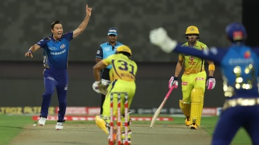 Trent Boult pinned down Ruturaj Gaikwad in the first over of the match