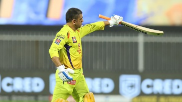 MS Dhoni walks back after falling for another low score
