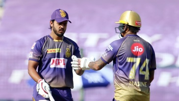 Nitish Rana and Sunil Narine added 115 runs for the fourth wicket