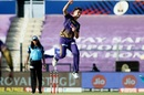 Pat Cummins takes flight, Kolkata Knight Riders vs Delhi Capitals, IPL 2020, Abu Dhabi, October 24, 2020