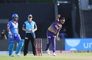 A rare sight: Sunil Narine bowling in short sleeves, Kolkata Knight Riders vs Delhi Capitals, IPL 2020, Abu Dhabi, October 24, 2020