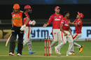 M Ashwin is mobbed after dismissing Jonny Bairstow, Kings XI Punjab vs Sunrisers Hyderabad, IPL 2020, Dubai, October 24, 2020