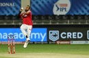 Chris Jordan in his delivery stride, Kings XI Punjab vs Sunrisers Hyderabad, IPL 2020, Dubai, October 24, 2020