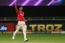 Arshdeep Singh celebrates after a key strike, Kings XI Punjab vs Sunrisers Hyderabad, IPL 2020, Dubai, October 24, 2020