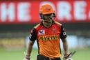 A disappointed David Warner walks off, Kings XI Punjab vs Sunrisers Hyderabad, IPL 2020, Dubai, October 24, 2020
