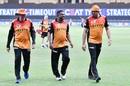 Trevor Bayliss, Muttiah Muralitharan and VVS Laxman - the SRH backroom brains trust, Kings XI Punjab vs Sunrisers Hyderabad, IPL 2020, Dubai, October 24, 2020