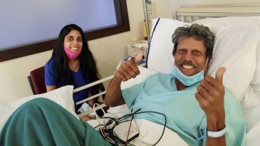 An emergency coronary angioplasty was performed on Kapil Dev