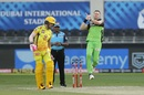 Chris Morris in his delivery stride, Chennai Super Kings vs Royal Challengers Bangalore, IPL 2020, Dubai, October 25, 2020