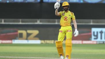 Ruturaj Gaikwad after hitting his first IPL fifty
