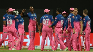 Celebration time for Jofra Archer and his team-mates