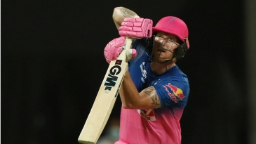 Ben Stokes watches the ball fly off his bat
