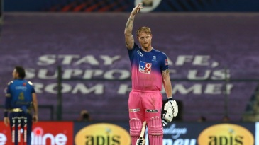 As he often does after making an impact, Ben Stokes pays tribute to his dad with the folded finger celebration