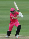 Back in action: Ellyse Perry made her long-awaited return from injury, Sydney Sixers v Adelaide Strikers, WBBL, North Sydney Oval, October 26, 2020