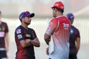 Kuldeep Yadav and Anil Kumble have a chat before the match, Kolkata Knight Riders vs Kings XI Punjab, Sharjah, IPL 2020, October 26, 2020