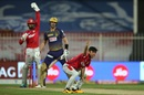 Ravi Bishnoi implores the umpire for a decision in his favour, Kolkata Knight Riders vs Kings XI Punjab, Sharjah, IPL 2020, October 26, 2020