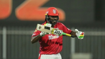 Chris Gayle is all smiles as he brings up his fifty