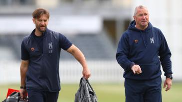 Warwickshire's head coach Jim Troughton and sport director Paul Farbrace