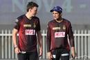 Tom Banton and Shubman Gill have a chat, Kolkata Knight Riders vs Kings XI Punjab, Sharjah, IPL 2020, October 26, 2020