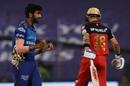 Jasprit Bumrah sees the back of Virat Kohli, Mumbai Indians vs Royal Challengers Bangalore, Abu Dhabi, IPL 2020, October 28, 2020