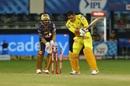 MS Dhoni makes the fatal mistake of playing back to spin, Chennai Super Kings vs Kolkata Knight Riders, IPL 2020, Dubai, October 29, 2020
