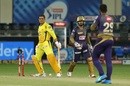 MS Dhoni has been bowled by Varun Chakravarthy in both clashes this season, Chennai Super Kings vs Kolkata Knight Riders, IPL 2020, Dubai, October 29, 2020