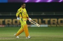 MS Dhoni walks back a dejected man, Chennai Super Kings vs Kolkata Knight Riders, IPL 2020, Dubai, October 29, 2020