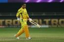 MS Dhoni walks back a dejected man, Chennai Super Kings vs Kolkata Knight Riders, IPL 2020, Dubai, October 29, 2020