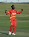 Tendai Chisoro celebrates, Pakistan vs Zimbabwe, 1st ODI, Rawalpindi, October 30, 2020