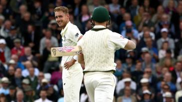 Stuart Broad dismissed David Warner seven times in the 2019 Ashes