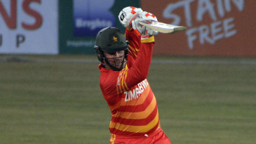 Brendan Taylor drives on the up