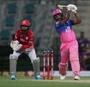 Sanju Samson slams one down the ground, Kings XI Punjab vs Rajasthan Royals, IPL 2020, Abu Dhabi, October 30, 2020