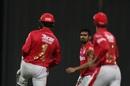 M Ashwin celebrates a wicket with his team-mates, Kings XI Punjab vs Rajasthan Royals, IPL 2020, Abu Dhabi, October 30, 2020