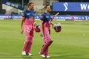 All smiles as Jos Buttler and Steven Smith walk back victorious , Kings XI Punjab vs Rajasthan Royals, IPL 2020, Abu Dhabi, October 30, 2020